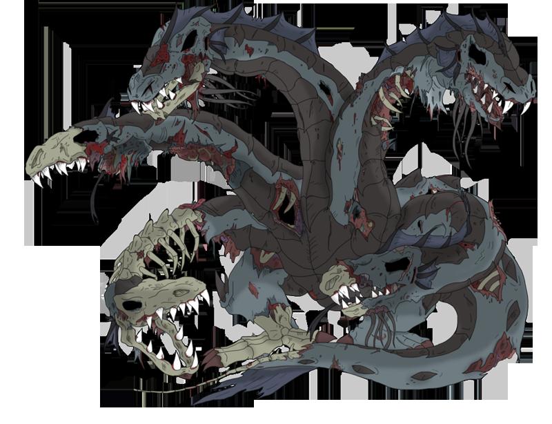 A zombie hydra
