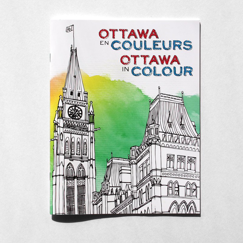 Cover image of Ottawa in Colour - colouring book