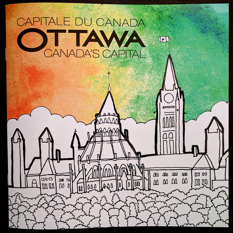 Cover of Ottawa Tourism colouring book.