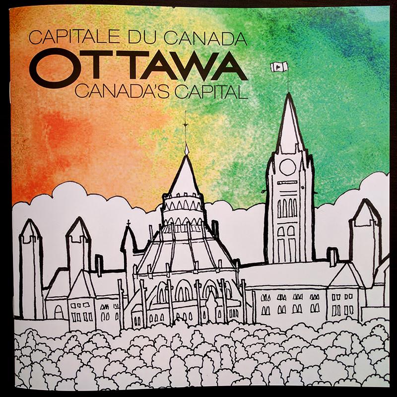 Cover of Ottawa Tourism colouring book.