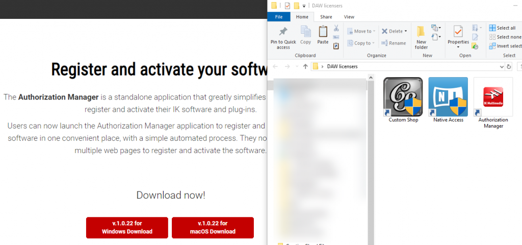 Authorization software on desktop
