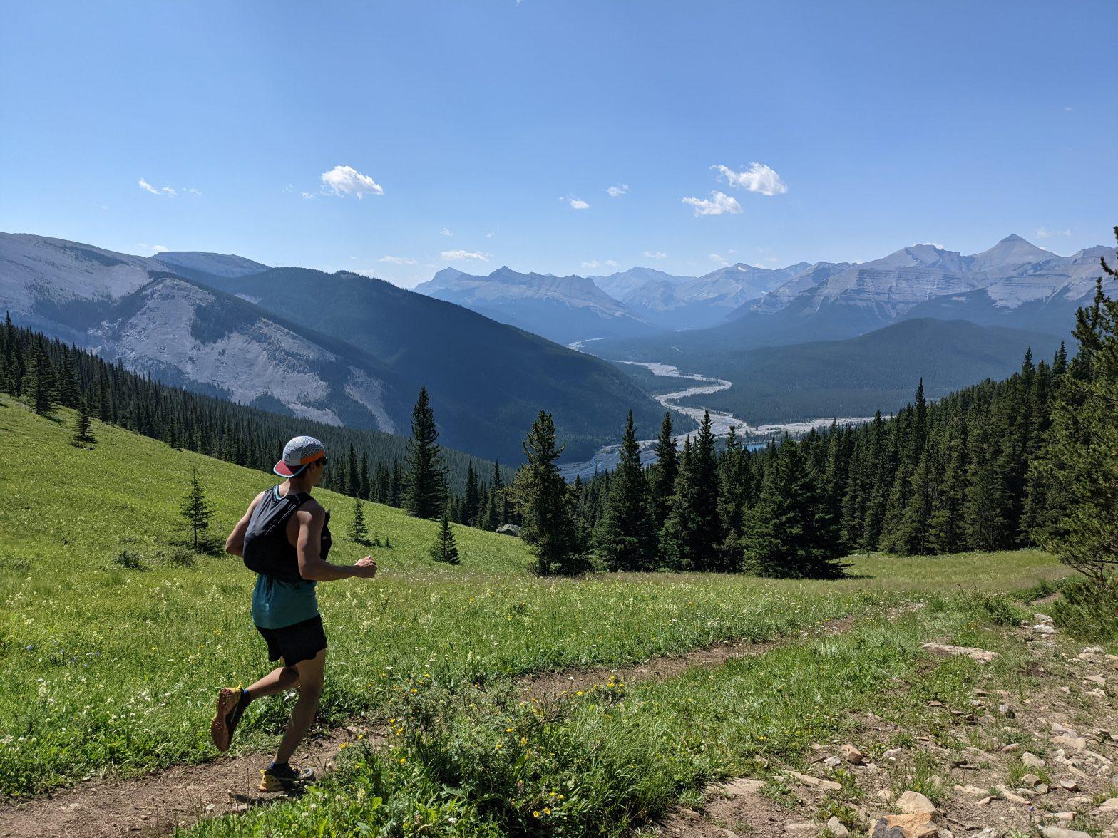 Running down prairie mountain